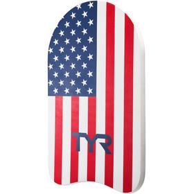 TYR Classic USA Kickboard, red/navy